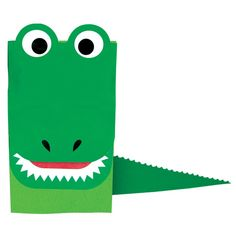 Crocodile Paper Bag Puppet - CleverPatch