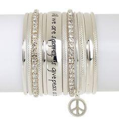 "Music Culture ""Give Peace a Chance"" Set of Bracelets"