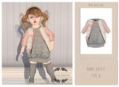 .The Blossom. Pinny outfit type A for Toddleedoo BABY size only!