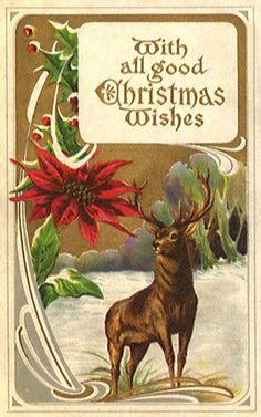 Vintage Animals -  Animals - Vintages Cards -  animal, animals, vintage, xmas, christmas, holidays, free, clipart,
