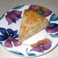 Almond flour cake -- delicious!  Subbed honey for the sugar in about 2/3 to 3/4 ratio.  YUM.