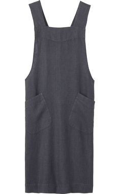 LINEN CROSS OVER APRON