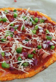Carrot Crust Pizza | contains dairy