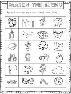math worksheet : consonant sounds s blends  worksheets ipad and activities : Blend Worksheets Kindergarten