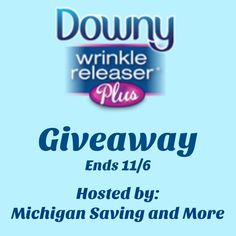 Enter to #WIN a Downy Wrinkle Releaser Plus Prize Package - #Giveaway ends 11/6 @las930 @DownyWRplus - PaulaMS' Giveaways, Reviews, and Freebies