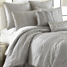 Colonial Textiles Reagan 8 Piece Comforter Set in Gray