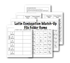 Latin First Conjugation Endings Match-Up (C2)