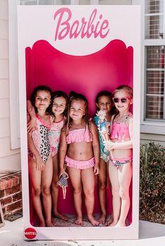 Glam Polkadot Barbie Birthday Party Barbie Box Photo Booth from a Barbie Birthday Party on Kara' Barbie Party Decorations, Barbie Theme Party, Barbie Birthday Party, Ballerina Birthday Parties, 5th Birthday Party Ideas, Girl Birthday, Decoration Party, Princess Birthday, Ideas Party
