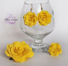 солнечные цветы (серьги + кольцо, серьги + браслет)