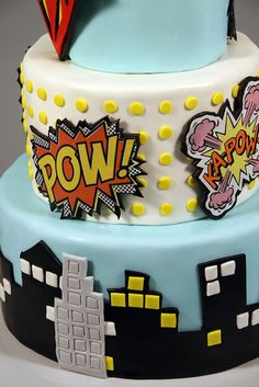 Vintage Superhero cake by marksl110, via Flickr generic superhero party