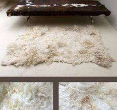 handmade felted rug. Felting at it's finest!