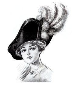 *The Graphics Fairy LLC*: Vintage Clip Art - Ladies Hats