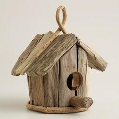 One of my favorite discoveries at WorldMarket.com: Driftwood Bird House Decor