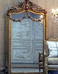 Gilt Rose Swag Ornate French Mirror