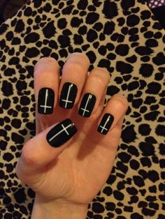 cross nails  - id only do it on one nail as an accent