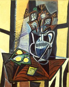 Pablo Picasso. Still Life with Flowers and Lemons 1941
