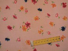 """3 Meter Baumwollstoff 80255-1, """"Blumenallover auf rosa Grund"""""""