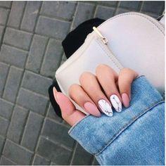 40 Natural Elegant Summer Nail Designs To Prepare For Parties And Holidays 2019 . 40 Natural Elegant Summer Nail Designs To Prepare For Parties And Holidays 2019 - Site - nails Cute Acrylic Nails, Acrylic Nail Designs, Cute Nails, Pretty Nails, Acrylic Nails Almond Short, Fabulous Nails, Perfect Nails, Amazing Nails, Hair And Nails