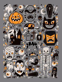 / halloween spooktacular / greg abbott / halloween images in orange, gray and black /