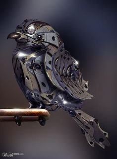 steam punk birdie.  I LOVE this little guy!