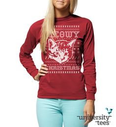 MeΘwy Christmas! | Kappa Alpha Theta | Made by University Tees | www.universitytees.com