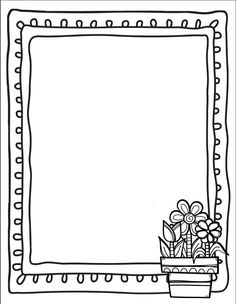 Borders For Paper, Borders And Frames, Doodle Frames, Page Boarders, Coloring Books, Coloring Pages, Boarder Designs, Book Labels, Alphabet Writing