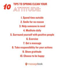 Spring clean your attitude!