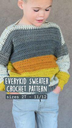 Boy Crochet Patterns, Crochet Baby Sweater Pattern, Baby Sweater Patterns, Crochet For Boys, Cute Crochet, Crochet Tops, Crochet Sweaters, Crochet Clothes For Women, Crochet Baby Clothes