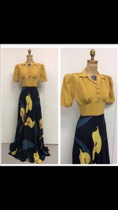 1940s calla lilly's gown.