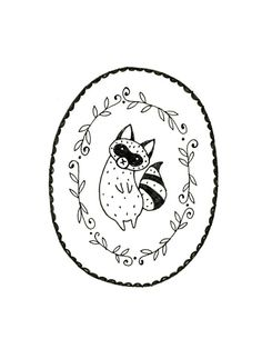 Raccoon Embroidery Pattern PDF Digital by teenytinyhappythings, $3.00