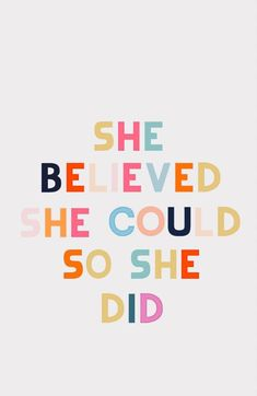 she believed she could so she did, motivational girl boss quote for home office. this is such a popular quote to help motivate the young business owner