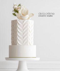 Creative wedding cake inspiration for Brides Boutique Buckingham. Unusual Wedding Cakes, Creative Wedding Cakes, Elegant Wedding Cakes, Elegant Cakes, Wedding Cake Designs, Rustic Wedding, Lace Wedding, Elegant Birthday Cakes, Blush Weddings