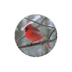 Red Cardinal Bird Candy Tin . $6.50 apiece, discount on bulk orders.