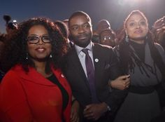 The cast of Selma remembered Bloody Sunday by staging a symbolic march through the streets of the Alabama city.