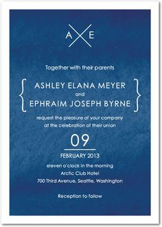 Signature White Wedding Invitations - At the Crossroads by Wedding Paper Divas