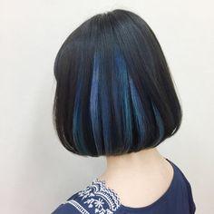 Short Hair Color And Highlights Inspiration Popular Ideas Hair Streaks, Hair Highlights, Ombre Hair, Short Blue Hair, Aesthetic Hair, Hair Color For Black Hair, Beauty Photography, Hair Looks, Pretty Hairstyles
