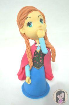Topo de Bolo Personalizado Anna - Frozen