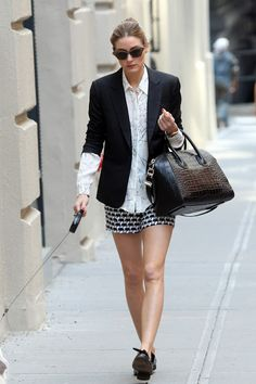 Olivia Palermo walking Mr Butler in NYC