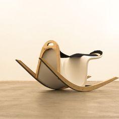 Rocking Verner by the Austrian designers Stefanie Richtsfeld and David Schellander is a reinterpretation of the Panton Chair made for a charity auction.