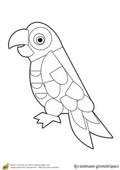 Geometric Bird, Bird Crafts, Paper Crafts, Rhinoceros, Art Plastique, Preschool Crafts, Bellisima, Quilling, Parrot