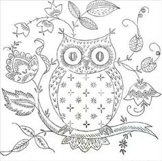 Owl embroidery pattern--not sure what I will do with this pattern, but it is too cute to pass up!