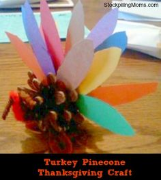 So easy to make for Thanksgiving Day or turn into name cards!  Your kids will love this fun craft!