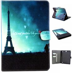 For Galaxy Tab A Protective leather cover case for samsung GALAXY Tab A tablet cases Flower Series Cute Cases, Ipad Tablet, Phone Cases, Tablet Cases, Skin Case, Chromebook, Leather Cover, Galaxies, Leather Wallet