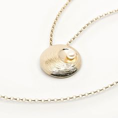 Oyster Pearl Gold Pendant Custom Jewelry, Gold Jewelry, Gold Necklace, Pendant Necklace, Jewellery, Hamilton Jewelry, Irish Jewelry, Gold Pendant, Jewelry Collection
