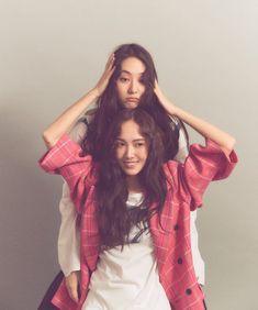 Krystal with Jessica Jung Jessica & Krystal, Krystal Jung, Kpop Girl Groups, Kpop Girls, Jessie, Jessica Jung Fashion, Kim Hyoyeon, Yoona Snsd, Instyle Magazine