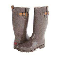 Chooka Top Solid Leopard Rain Boot