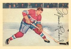 maurice richard hockey cards   1953 Parkhurst Maurice Richard #24 Hockey Card Hockey Cards, Baseball Cards, Maurice Richard, Canada, Sports Figures, Montreal Canadiens, Hockey Players, Nhl, Price Guide