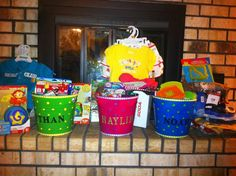 Made these Easter buckets for my grandchildren.  Thought they came out really cute!!