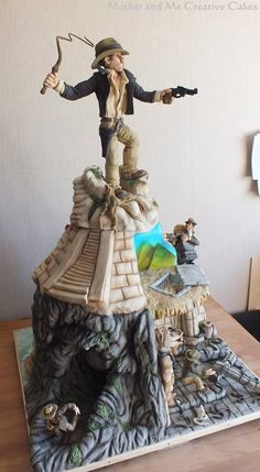 The World's Greatest Indiana Jones Cake made by Mother and Me Creative Cakes