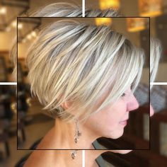 100 Mind-Blowing Short Hairstyles For Fine Hair - Hair Beauty Short Hairstyles For Thick Hair, Bob Hairstyles For Fine Hair, Short Hair Cuts, Curly Hair Styles, Short Pixie, Pixie Hairstyles, Asymmetrical Pixie, Pixie Haircuts, Hairstyle Pics